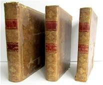 1777 3 FOLIO VOLUMES ROMAN HISTORY ILLUSTRATED antique
