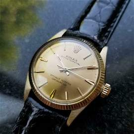 Mens Rolex Oyster Perpetual 6551 30mm 13k Gold