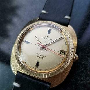 Mens Movado Kingmatic HS360 35mm 14k Solid Gold 1960s