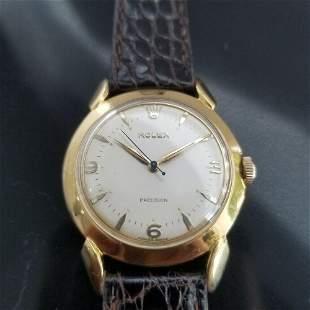 Mens Rolex Precision 35mm Gold-Capped Hand-Wind Dress