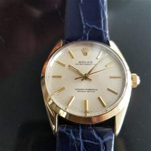 Mens Rolex Oyster perpetual Ref.1024 34mm Gold-Capped