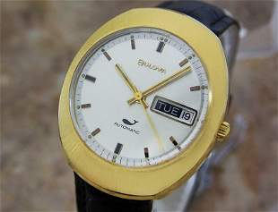 Mens Bulova N0 35mm Gold-Plated Day Date Automatic,