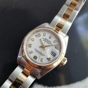 Ladies Rolex Oyster Datejust 26mm 18k Gold & SS