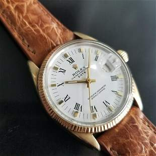 Mens Rolex Oyster Date Ref.1550 34mm Gold-Capped