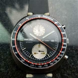 "Mens Seiko 1970s 6138 ""UFO"" Automatic Chronograph w/Day"