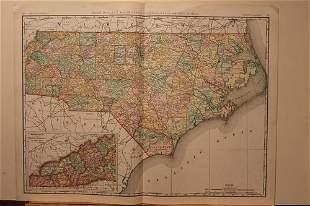 1898 Map of North Carolina