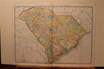 1902 Map of South Carolina