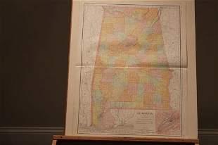1898 Map of Alabama