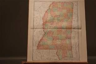 1898 Map of Mississippi