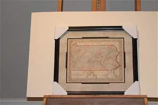 1867 Map of Pennsylvania
