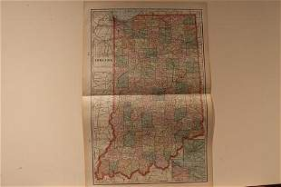 1888 Map of Indiana