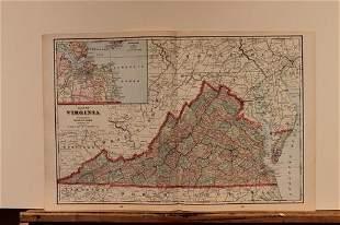 1895 Map of Virginia