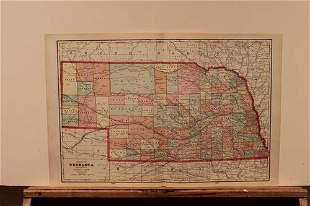 1892 Map of Nebraska
