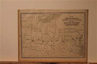 1890 US Population Map