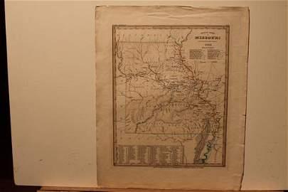 1845 Map of Missouri