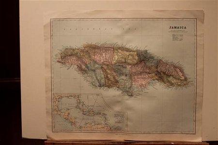 1885 Map of Jamaica
