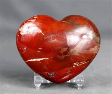 A beautifull polished orbicular agate heart