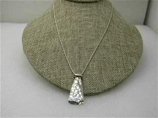 Vintage Silpada Sterling Brutalist Necklace, Hammered