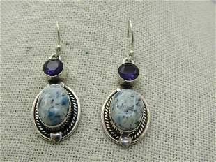 Sterling Silver Southwestern Contemporary Earrings,