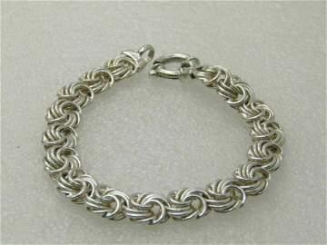 """Vintage Sterling Milor Spiral Link Bracelet, 7.25"""","""