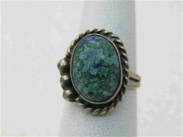 Vintage Southwestern Sterling Variscite/Turquoise Ring,