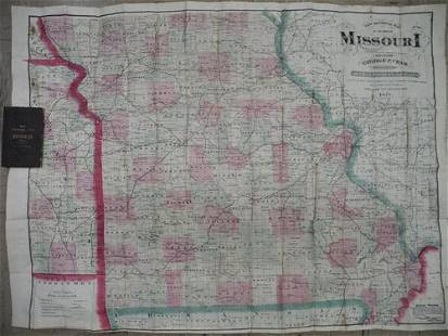 New sectional map of the State of Missouri