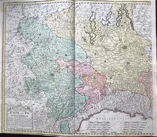 Northern Italy's Po river and surrounding areas. Set of