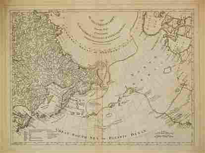 1775 Sayer Map of North Pacific with Detail of Siberia