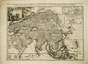 1713 Aa Map of Asia -- L'Asie, Selon les Nouvelles