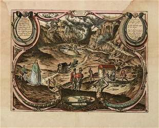 1580 c. Braun and Hogenberg View of Solfatara Near
