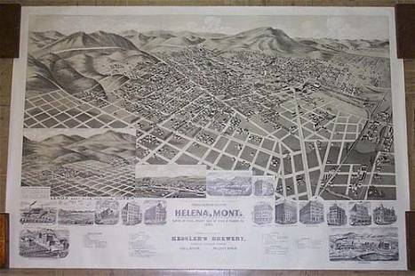 Perspective Map of the City of Helena, Mont. ... 1890