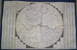 New & Correct Map of Thirty Miles Around London,