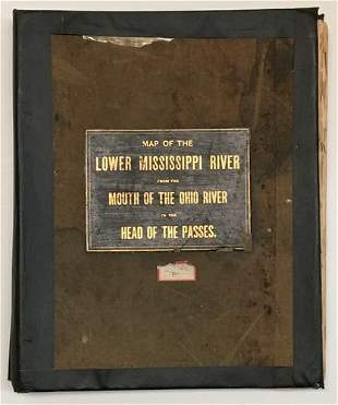 Map of the Lower Mississippi from the mouth of the Ohio