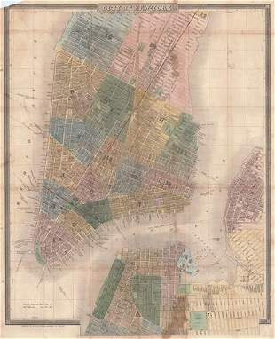 City of New York (On Front Cover: Walker's New Map of