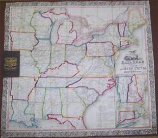Ensign, Bridgman & Fanning's Rail Road Map of the