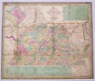 Tourist's Pocket Map of The State of Virginia