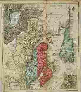 1756 Seutter/Lotter Map of Canadian Maritime Provinces
