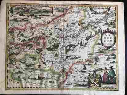 Namur city and surroundings in Belgium. 1617 by Keere