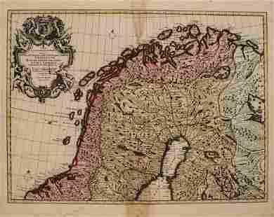 1792 Elwe Map of Northern Scandinavia -- Carte des
