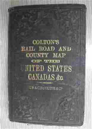Colton's new Rail Road and County Map of the United
