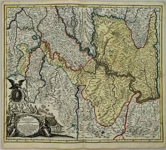 1730 Seutter Map of Northern Balkans -- Iustissimae