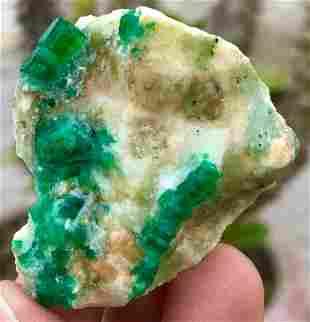 144 Carats World Rare Damage Free Lush Green Emerald