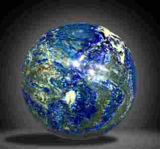 Earth Shape AAA Quality 6200 Grams Royal Blue Lapis