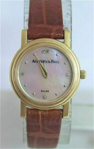 Solid 18k Ladies AUSTERN & PAUL Watch with