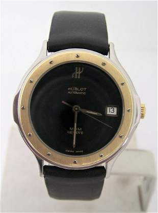Unisex 18k & S/Steel HUBLOT MDM GENEVE Automatic Watch