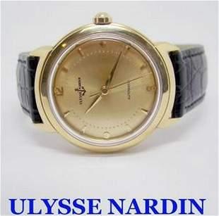 Solid 18k ULYSSE NARDIN Automatic Watch c.1960s in