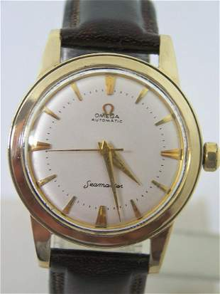 Vintage Solid 14k Gold OMEGA SEAMASTER Automatic Watch