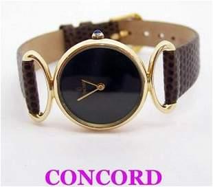 Solid 14K Yellow Gold CONCORD Ladies Quartz Watch