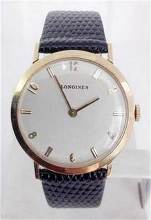 Solid 14k LONGINES Winding Watch c.1960s Cal 19.4 Ref