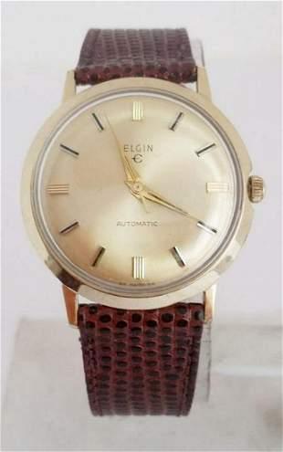 Vintage 10k GF ELGIN Mens Automatic Watch 1960s* EXLNT